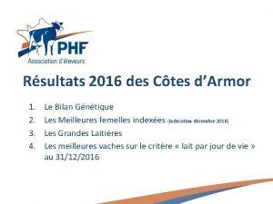 Rsultats 2016 des Ctes dArmor 1 2 3