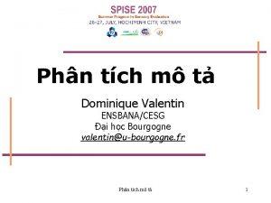 Phn tch m t Dominique Valentin ENSBANACESG i