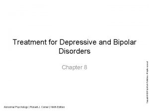 Chapter 8 Abnormal Psychology Ronald J Comer Ninth