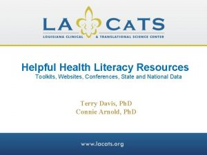 Helpful Health Literacy Resources Toolkits Websites Conferences State
