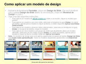 Como aplicar um modelo de design 1 Na