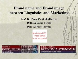 Brand name and Brand image between Linguistics and