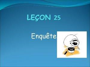LEON 25 Enqute LE HAMBURGER DE LA NGATION