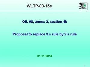WLTP08 15 e OIL 8 annex 2 section
