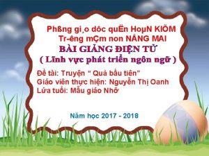 Phng gio dc qun HoN KIM Tr ng