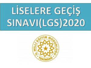 LSELERE GE SINAVILGS2020 LSELERE YERLETRME NASIL YAPILACAK Snav