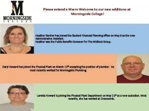 Please extend a Warm Welcome to our new