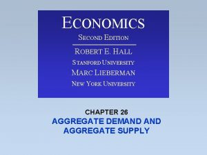 ECONOMICS SECOND EDITION ROBERT E HALL STANFORD UNIVERSITY