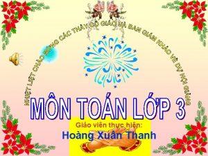 Gio vin thc hin Hong Xun Thanh Th