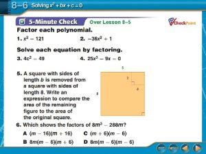 Over Lesson 8 5 Over Lesson 8 5