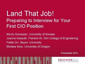 Land That Job Preparing to Interview for Your