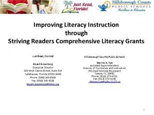 Improving Literacy Instruction through Striving Readers Comprehensive Literacy