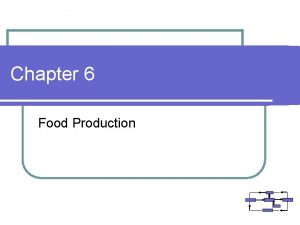 Chapter 6 Food Production Functional Subsystem Food Production