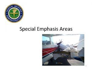 Special Emphasis Areas 1 Special Emphasis Areas Positive