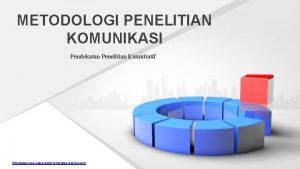 METODOLOGI PENELITIAN KOMUNIKASI Pendekatan Penelitian Kuantitatif http www