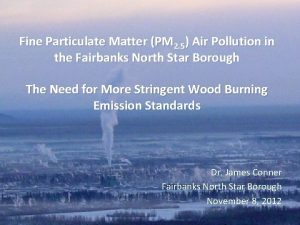 Fine Particulate Matter PM 2 5 Air Pollution