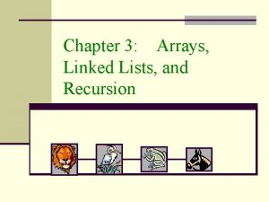 Chapter 3 Arrays Linked Lists and Recursion Singly