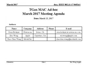 March 2017 doc IEEE 802 11 170453 r