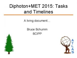 DiphotonMET 2015 Tasks and Timelines A living document
