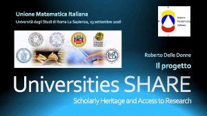 Scholarly Heritage and Access to Research Adozione dei