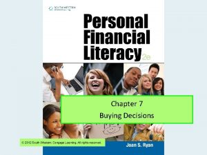 Chapter 7 Buying Decisions Financial Literacy Chapter 7