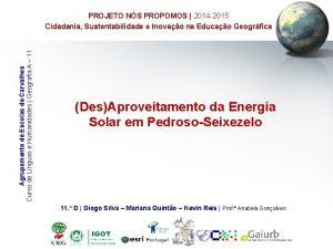 Agrupamento de Escolas de Carvalhos Curso de Lnguas
