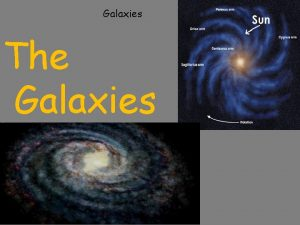 Galaxies The Galaxies 5122010 On a clear and