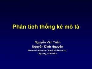 Phn tch thng k m t Nguyn Vn