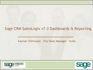 Sage CRM Sales Logix v 7 0 Dashboards