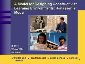 A Model for Designing Constructivist Learning Environments Jonassens