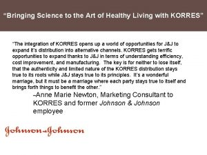 Bringing Science to the Art of Healthy Living