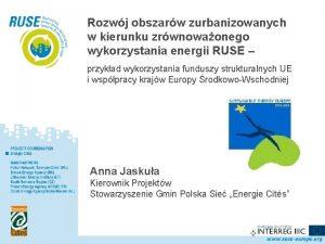 Polska Sie Rozwj obszarw zurbanizowanych w kierunku zrwnowaonego