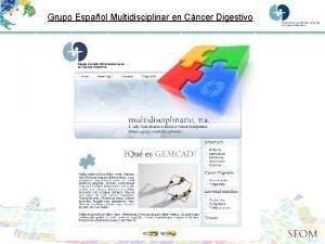 Grupo Espaol Multidisciplinar en Cncer Digestivo Enfoque multidisciplinar