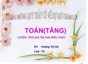 TONTNG LUY N TI NH GIA TRI CU