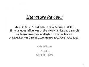 Literature Review Stolz D C S A Rutledge