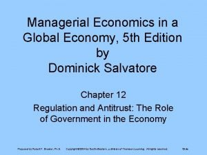 Managerial Economics in a Global Economy 5 th