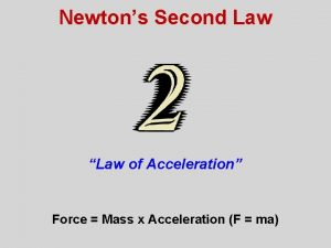 Newtons Second Law Law of Acceleration Force Mass