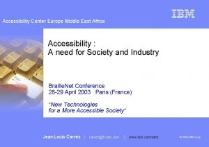 Accessibility Center Europe Middle East Africa Accessibility A