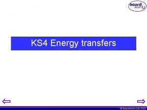 KS 4 Energy transfers Boardworks Ltd 2003 Transducers