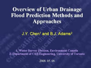 Overview of Urban Drainage Flood Prediction Methods and
