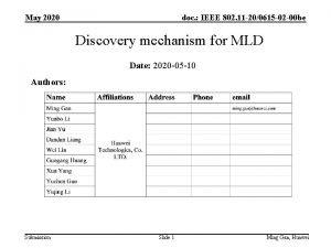 May 2020 doc IEEE 802 11 200615 02