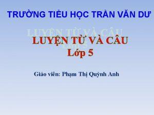 TRNG TIU HC TRN VN D Gio vin