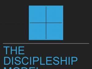 THE DISCIPLESHIP THE DISCIPLESHIP MODEL DISCIPLESHIP We need