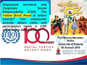 Employees workers and Corporate Social Responsibility CSR The