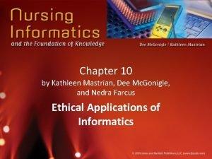 Chapter 10 by Kathleen Mastrian Dee Mc Gonigle