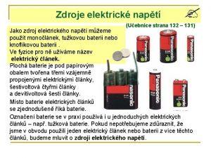 Zdroje elektrick napt Uebnice strana 132 131 Jako