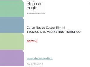 Corso Nuovo Cescot Rimini TECNICO DEL MARKETING TURISTICO