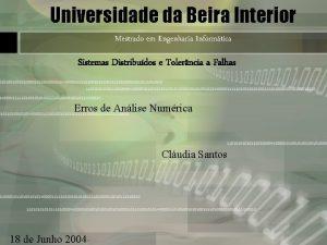 Universidade da Beira Interior Mestrado em Engenharia Informtica