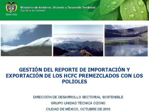 GESTIN DEL REPORTE DE IMPORTACIN Y EXPORTACIN DE