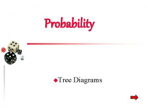 Probability u Tree Diagrams Tree Diagrams u Shows
